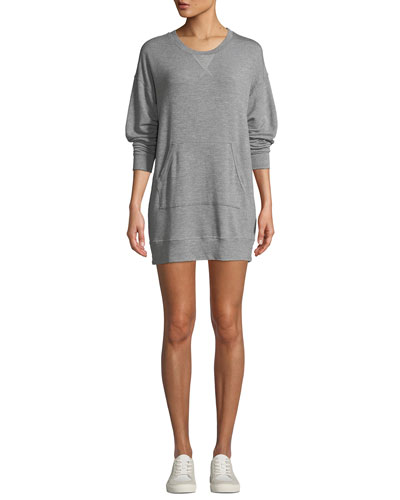 Classic Crewneck Pullover Sweatshirt Dress