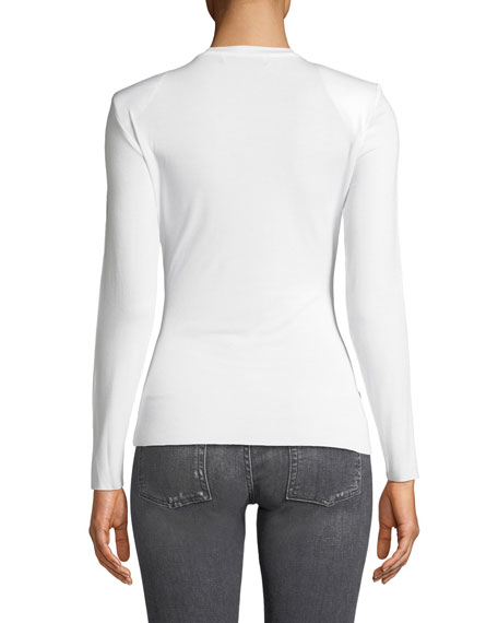 Bailey 44 Long Shot Textured Long-Sleeve Jersey Top