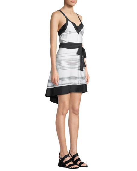 Proenza Schouler Striped V-Neck Coverup Sun Dress