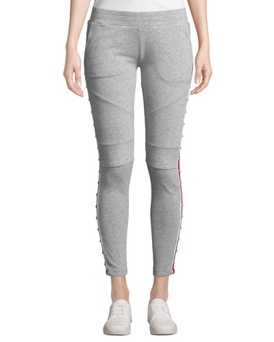 Wells Studded Racer Stripe Sporty Sweatpants