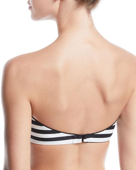 kate spade new york striped bandeau bikini swim top