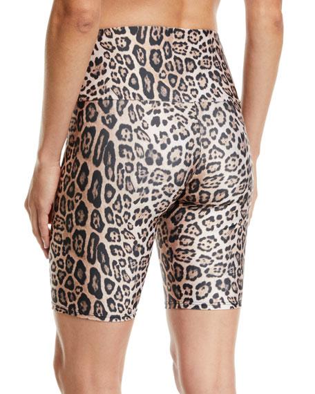 Onzie High-Rise Leopard-Print Activewear Bike Shorts