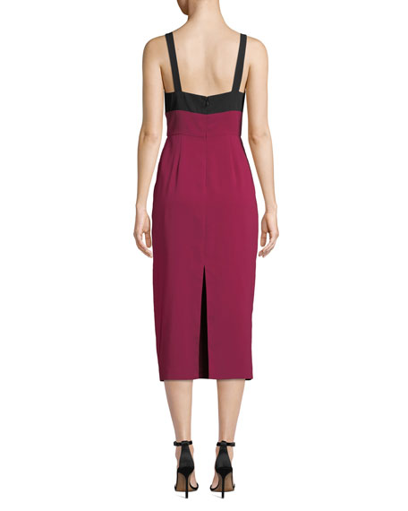 Image 2 of 3: Jill Jill Stuart Two-Tone V-Neck Sleeveless Cocktail Dress