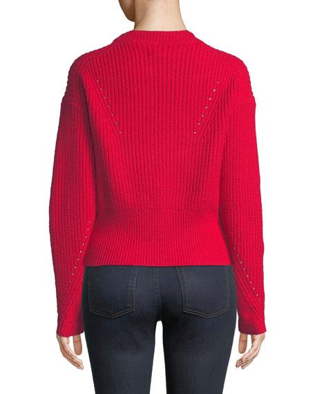Tanya Taylor Eloisa Wool-Blend Ribbed Sweater