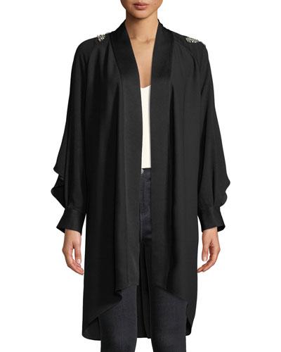 Deon Embellished Long-Sleeve Kimono