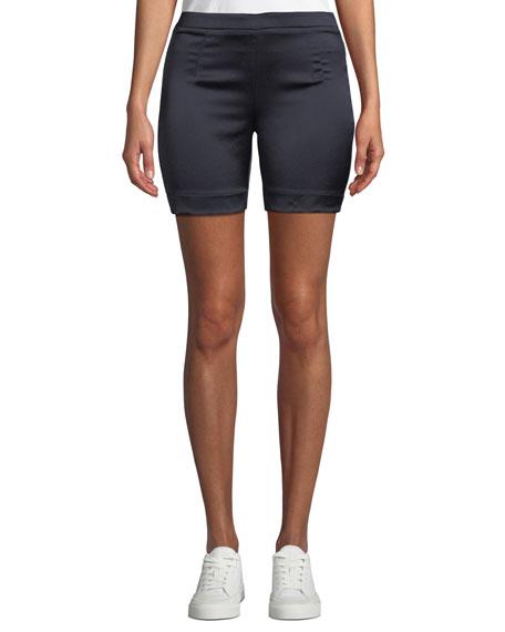 Maggie Marilyn Life Is Short Satin Biker Shorts
