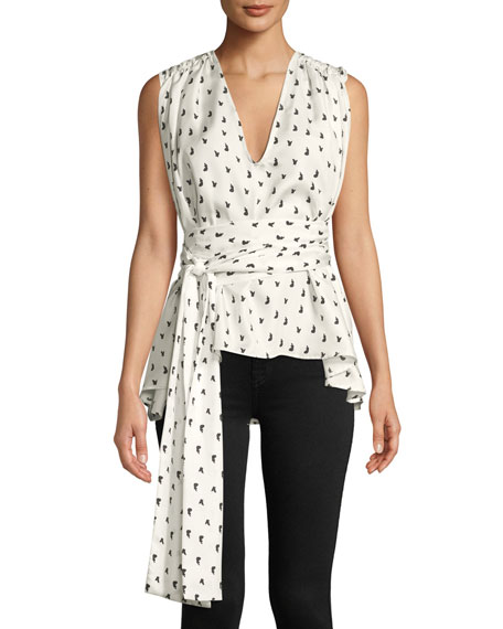 Maggie Marilyn I Can Count On You Printed Wrap Top