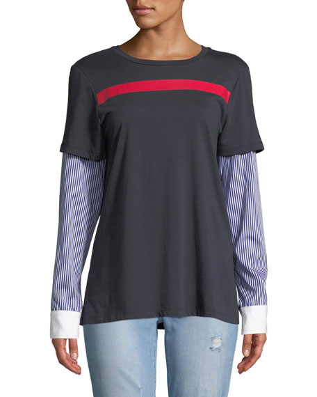 Maggie Marilyn Nothing To Prove Layered Cotton Tee