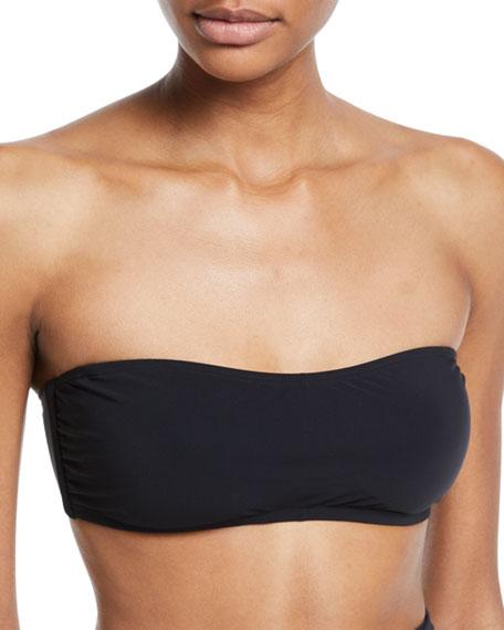 Tory Burch Solid Bandeau Bikini Swim Top