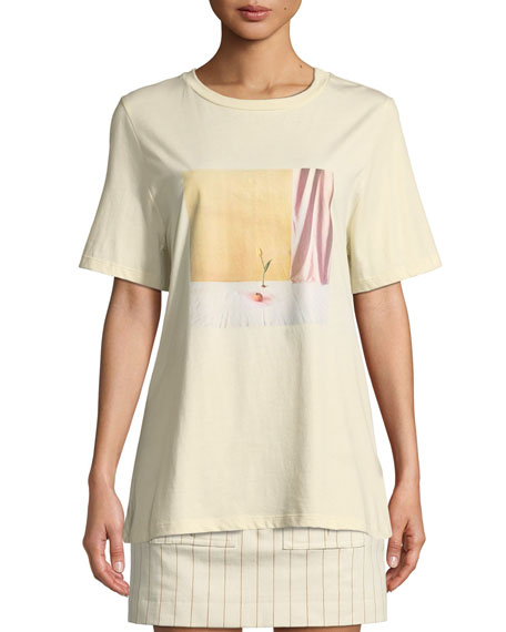 Maggie Marilyn Billie Graphic Oversized Crewneck Tee