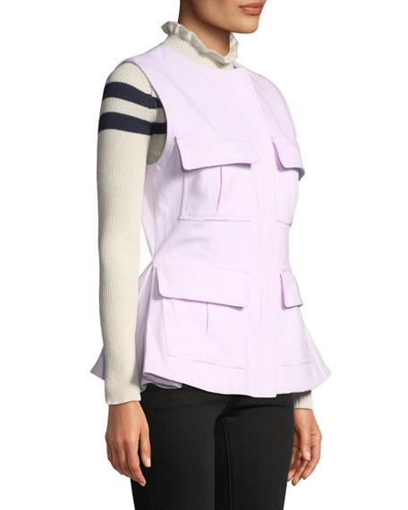 Maggie Marilyn So Glad We Made It Zip-Front Peplum Utility Vest