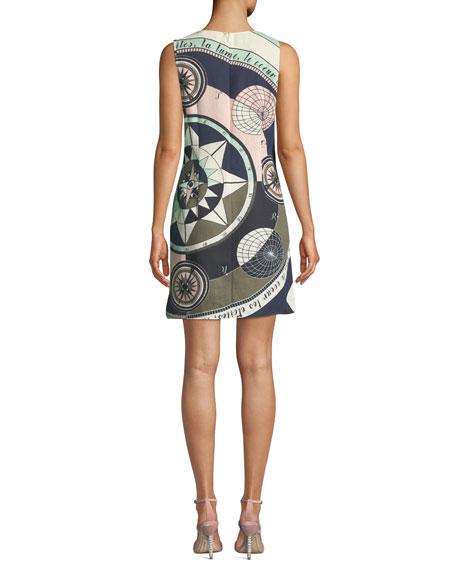 Tory Burch Constellation Sleeveless Linen-Blend Short Dress