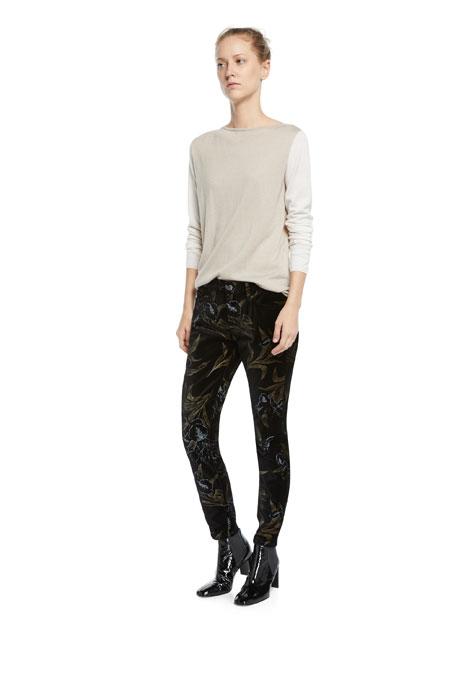 Jen7 by 7 for All Mankind Metallic Floral Velvet Skinny Ankle Pants