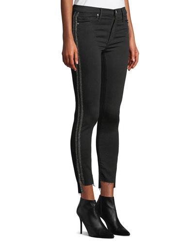 Miranda Step-Hem High-Rise Skinny with Racer Stripes