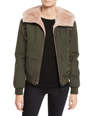 a29ed41c709c Yves Salomon - Army Reversible Fur & Nylon Jacket