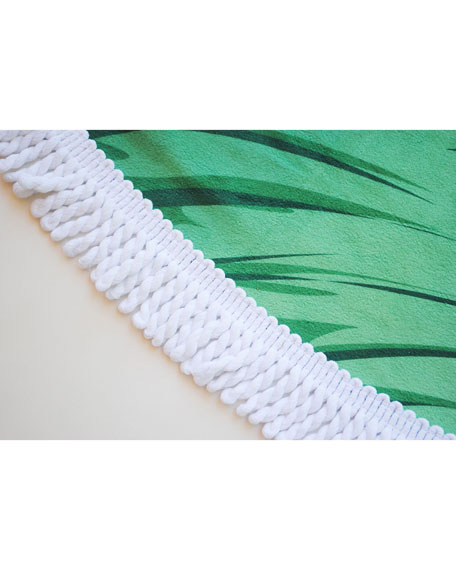 Image 2 of 2: Yoga Zeal Banana Leaf Round Beach Towel