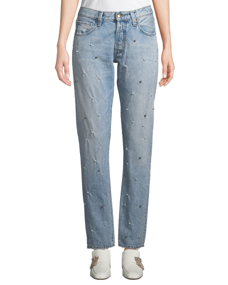PRPS El Camino Tapered Boyfriend Jeans with Pearl Details
