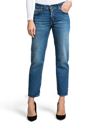 Delorean Mid-Rise Ankle Straight-Leg Jeans - Equinox