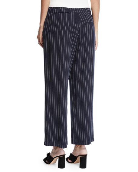 Eileen Fisher Tencel® Cropped Wide-Leg Striped Pants