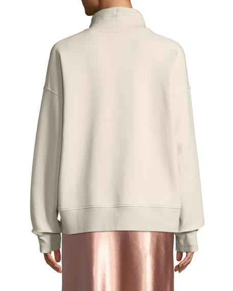 Vince Funnel-Neck Dropped-Shoulder Pullover Sweatshirt