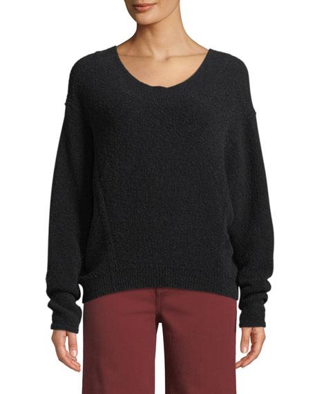 Vince Scoop-Neck Wool Dolman-Sleeve Sweater