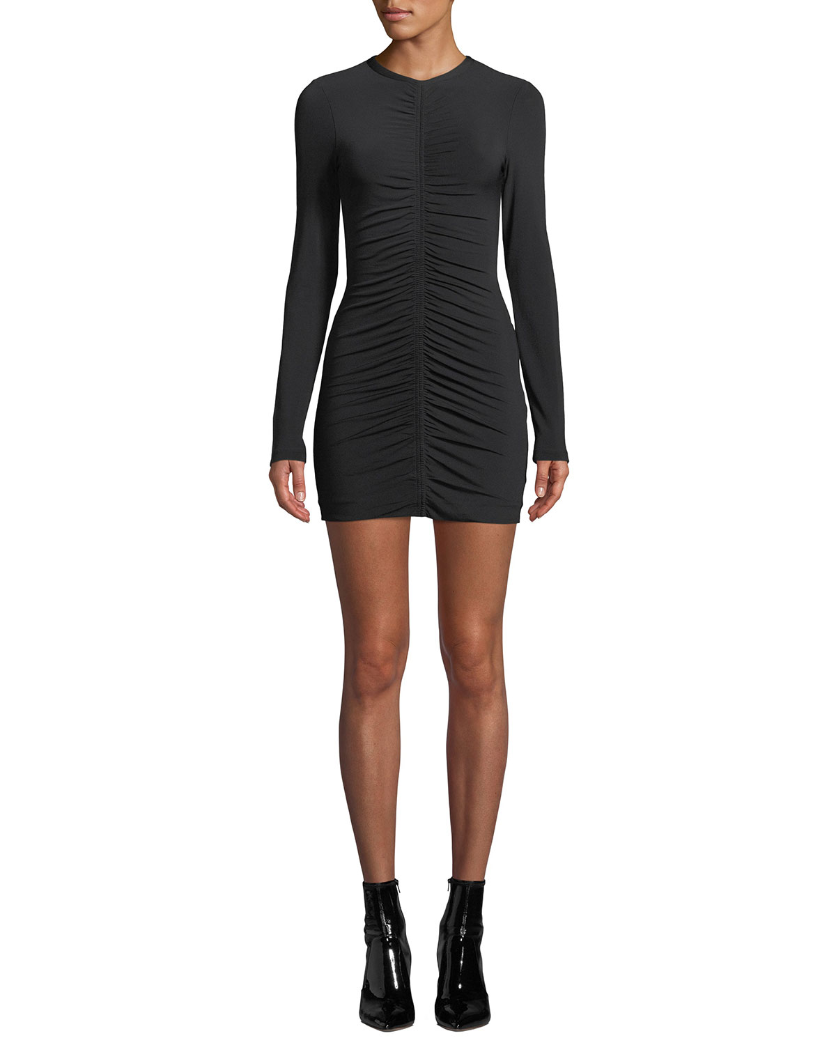 88ce1a43680 alexanderwang.t Crepe Jersey Long-Sleeve Dress with Ruching