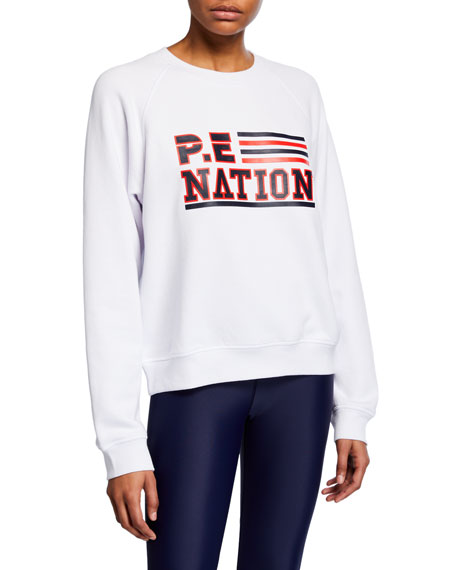 PE Nation Blacktop Logo Raglan Pullover Sweatshirt