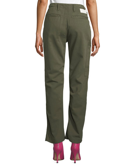 RE/DONE High-Rise Straight-Leg Cargo Pants