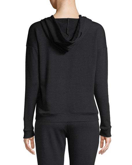 Beyond Yoga Shine On Velvet-Front Pullover Hoodie