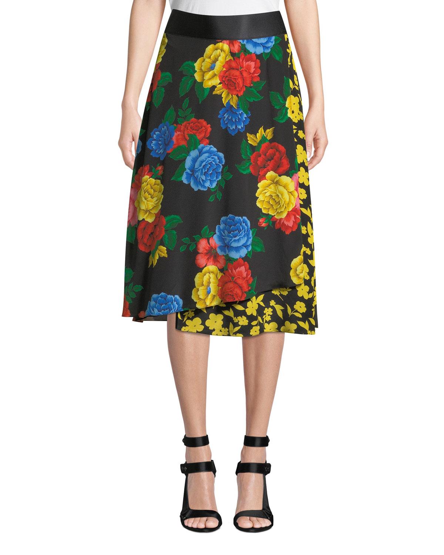 high quality guarantee exquisite craftsmanship beautiful design Nanette Mock-Wrap Midi Skirt