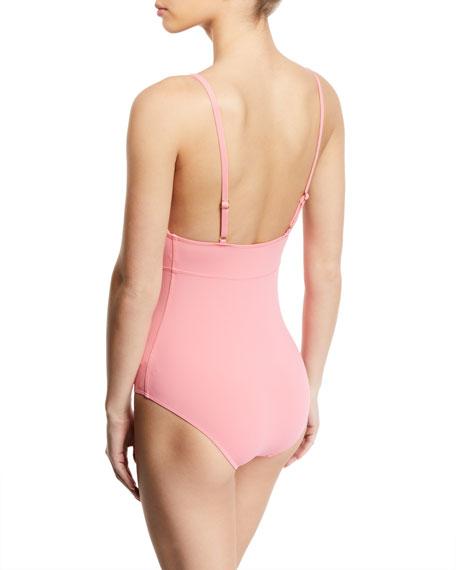 Gottex Au Natural V-Neck Adjustable Strap One-Piece Swimsuit