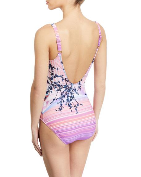Gottex Hanami Floral-Print One-Piece Swimsuit