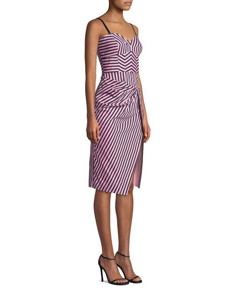 Milly Alice Sleeveless Striped Shirting Dress