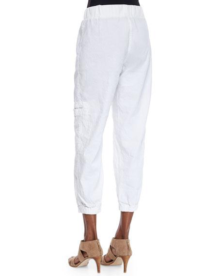 Eileen Fisher Petite Linen-Blend Cargo Ankle Pants