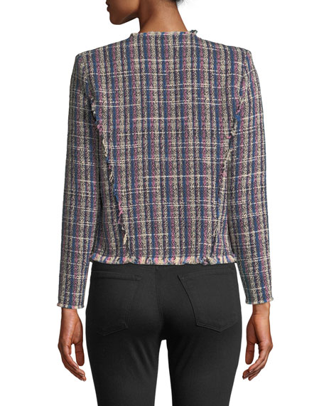 Iro Frannie Collarless Tweed Jacket