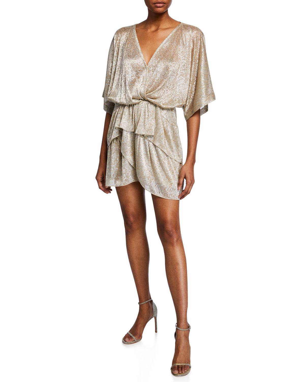 7490287180a08 Iro Tiered-Ruffle Mini Dress | Neiman Marcus