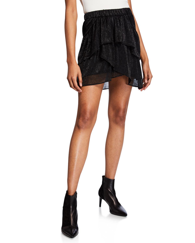 4397517ba539b Iro Huge Tiered Metallic Short Skirt | Neiman Marcus