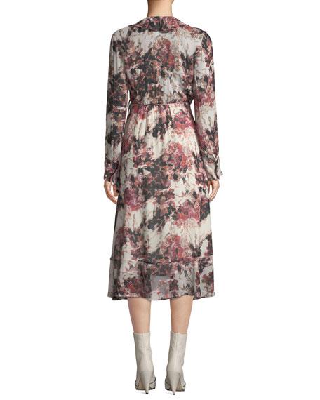 f2431477c4a4 Iro Garden Surplice Long-Sleeve Printed Wrap Dress | Neiman Marcus