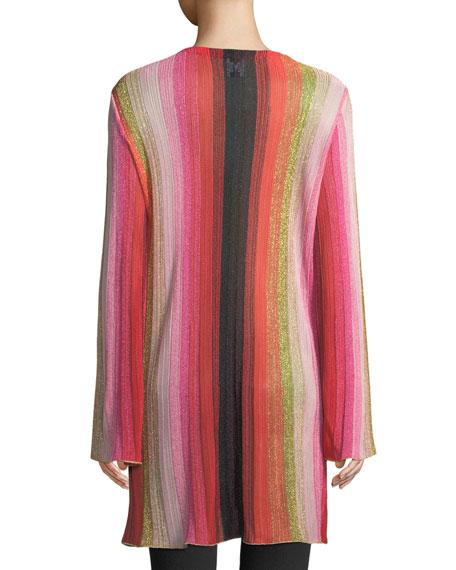 M Missoni Metallic-Stripe Long-Sleeve Cardigan