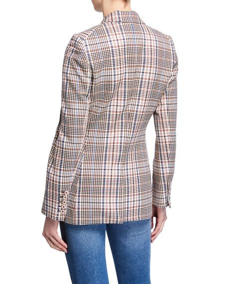 VERONICA BEARD Cottons FULLER CHECK SINGLE-BUTTON DICKEY JACKET