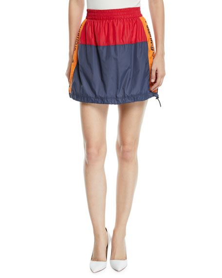 Warm-Up Colorblock Logo Mini Skirt