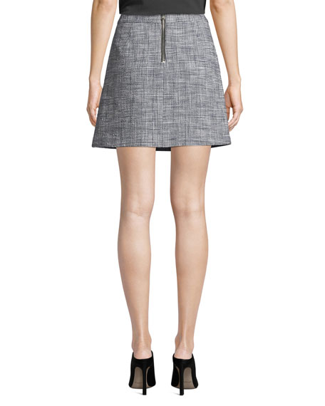 Veronica Beard Maida Check Sailor Short Skirt