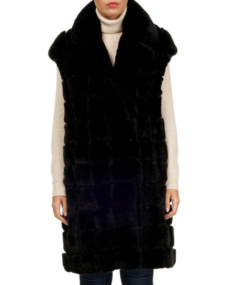 Gorski Rabbit Fur Notched-Collar Vest