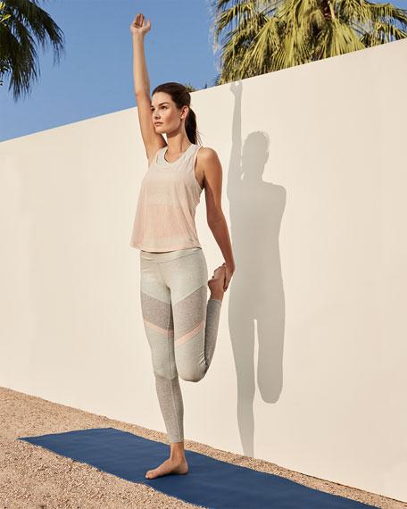 Alo Yoga Sheila High-Waist Mesh Panel Leggings