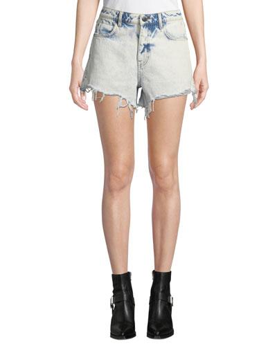 Bite High-Rise Cutoff Bleached Denim Shorts