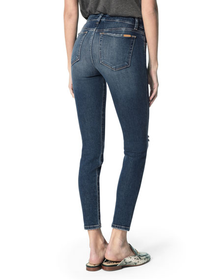 Joe's Jeans The Icon Mid-Rise Distressed Ankle Skinny Jeans