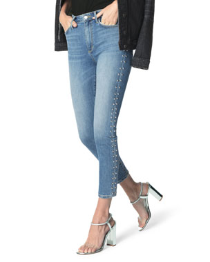 bc5912ae473b5 Joe's Jeans The Charlie Studded Skinny Ankle Jeans