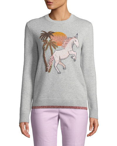 Uni Intarsia Wool-Cashmere Sweater