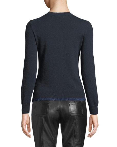 Coach Rexy Patch Metallic Wool-Cashmere Sweater