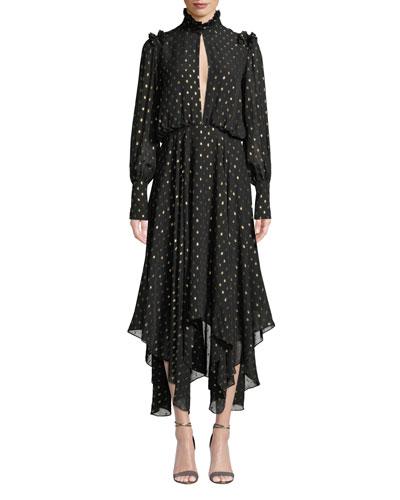 Jasmeen Polka Dot Handkerchief Dress
